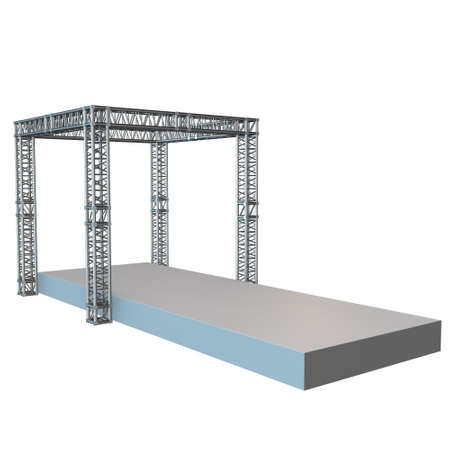 spectacle frame: Steel truss girder rooftop construction Stock Photo
