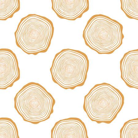 tillable: Tree Rings Seamless Vector Pattern. Illustration