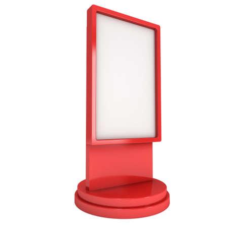 EXHIBIDOR: feria stand de pantalla de cristal líquido stand Foto de archivo