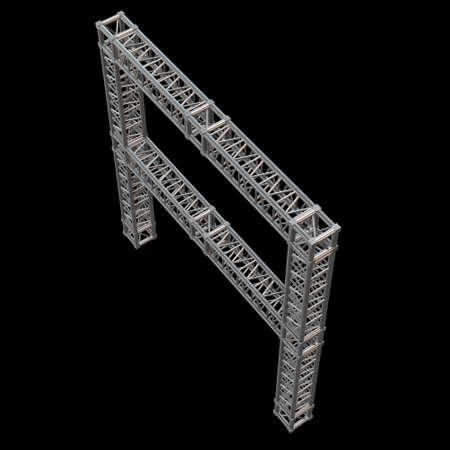 Steel truss girder element