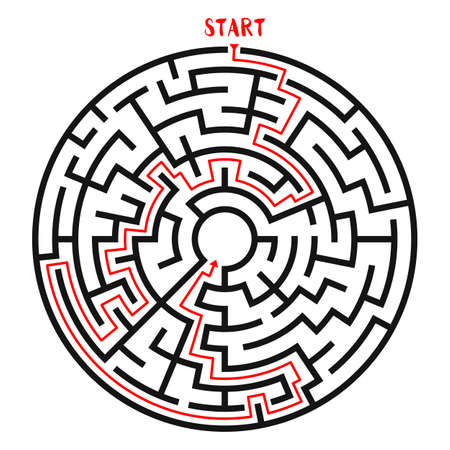 leading the way: Circle Maze Vector