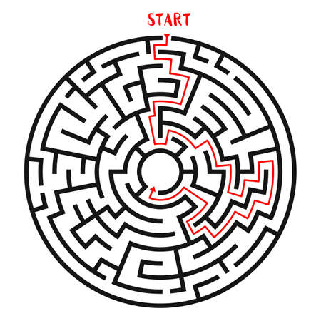 Cirkel Maze Vector