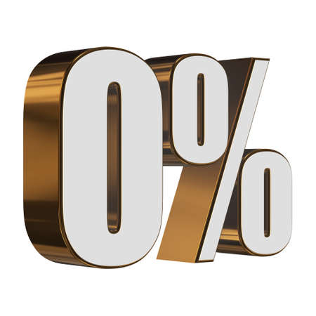 0 percent on white background
