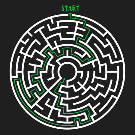 green issue: Circle Maze Vector