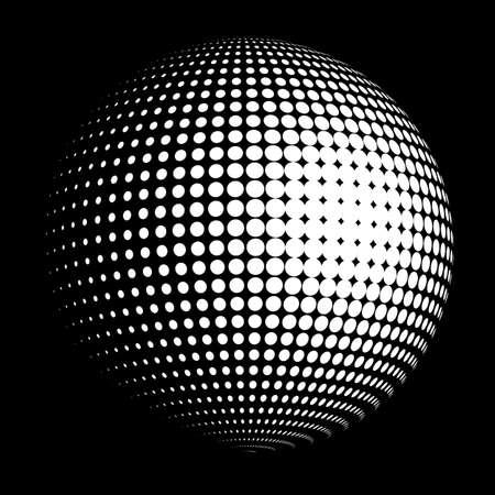 Vector halftone sphere logo Illustration