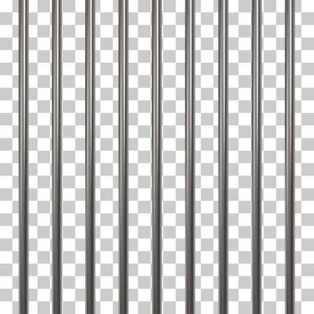 Prison bars isolated on transparent Illustration