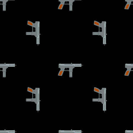 Submachine gun security and military weapon Ilustrace