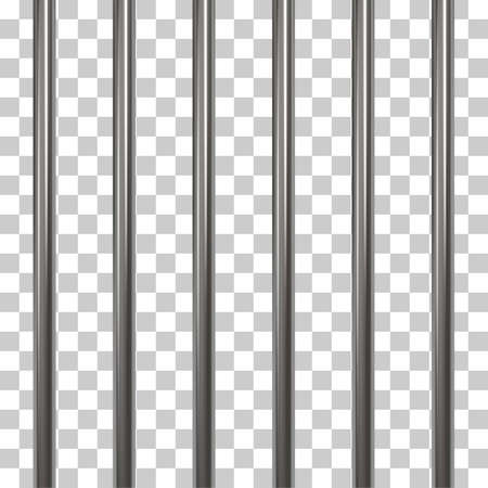 Prison bars isolated on transparent Stock Illustratie