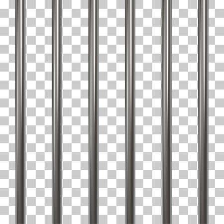 Gevangenis bars geïsoleerd op transparant Stockfoto - 74958833