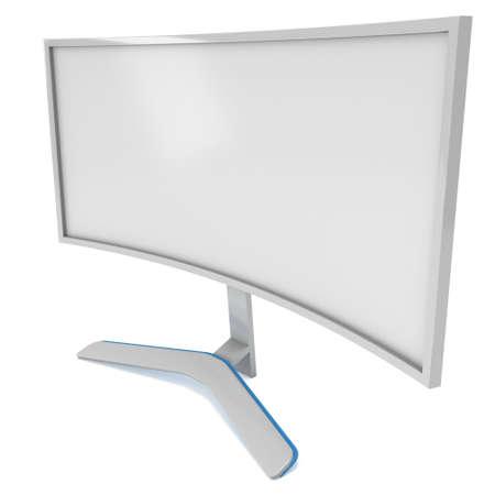 hdtv: White LCD tv screen