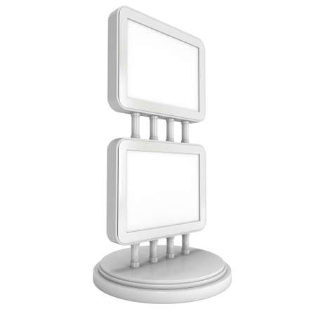 commerce and industry: Trade show booth LCD screen stand