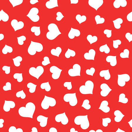 Seamless Pattern with hearts. Valentines Day background. Illustration