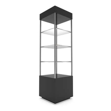 boutique display: Empty showcase for exhibit. 3d render.