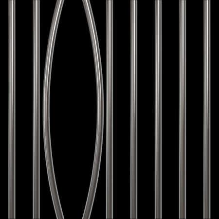 grille: Broken prison bars on transparent Illustration
