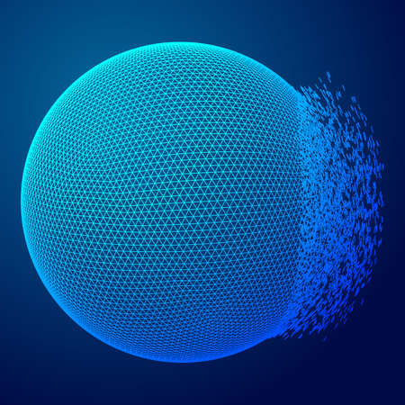 Abstract wireframe sphere Illustration