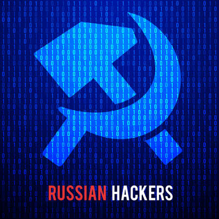 Russian hackers. Abstract Matrix Background