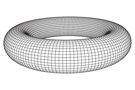Abstract wireframe torus