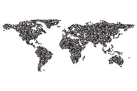 Worldmap template silhouette world map for infographic dotwork illustration worldmap template silhouette world map for infographic dotwork halftone tattoo style vector illustration gumiabroncs Image collections