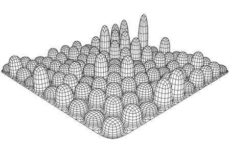 wire mesh: Mesh Cubes array