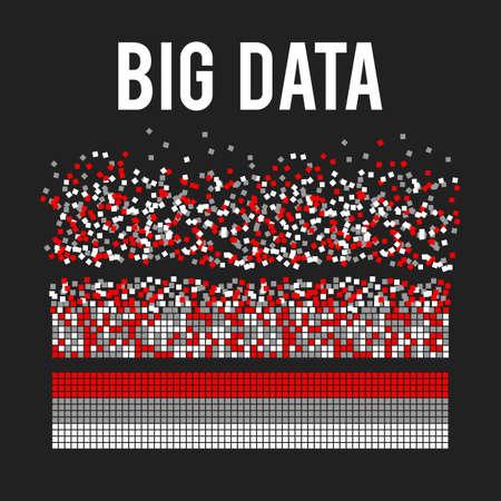 Big data visualization vector background.