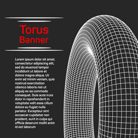 torus: Abstract wireframe torus