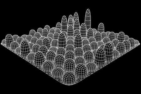 Mesh Cubes array
