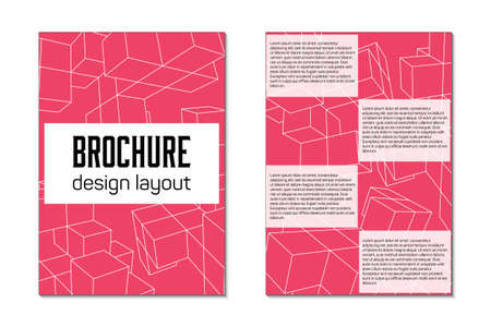 mesh: Brochure design template flyer