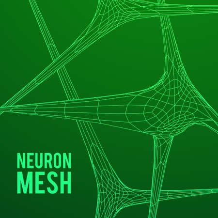 mesh: Neuron system wireframe mesh model