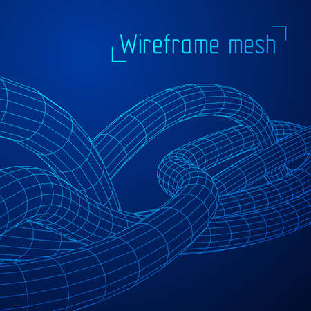 Low poly vein or wire wireframe mesh background.