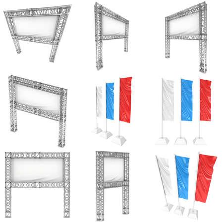 advertising column: Steel truss girder element
