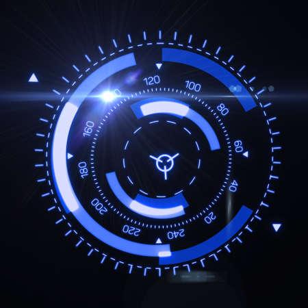 未来の HUD ターゲット UX UI インターフェイス。