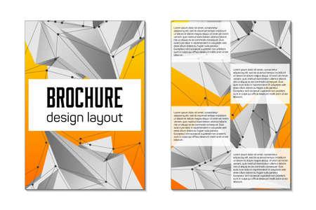 Broschüre Vorlage Vektor-Layout.