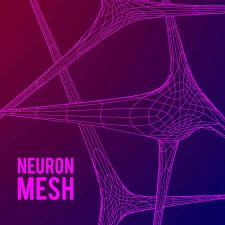 Neuron System Drahtgitter Mesh-Modell
