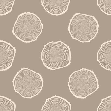 Baum-Ringe nahtlose Vektor-Muster.