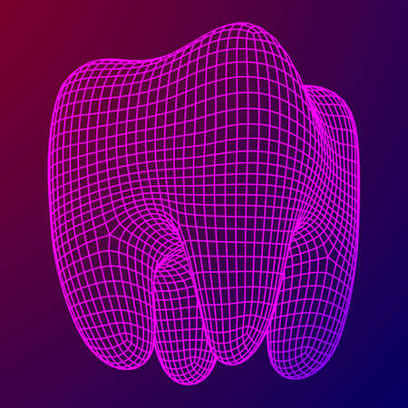 Tooth Wireframe Mesh