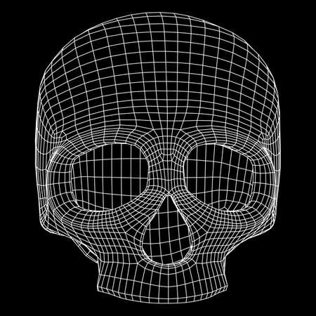 Cadre de fil de crâne. Banque d'images - 83414822