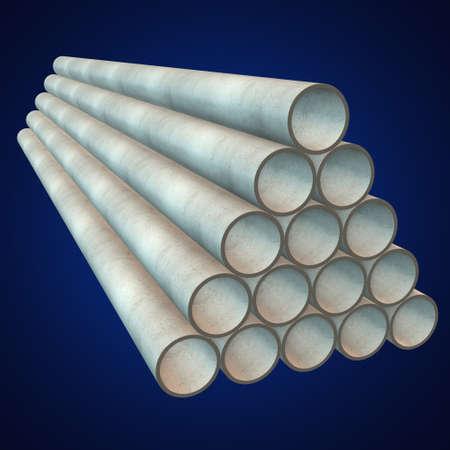 commodities: Pila de tubos de plástico.
