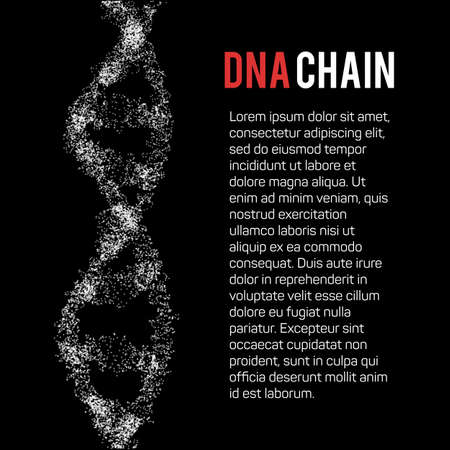 The structure of the DNA molecule and neurons Illustration
