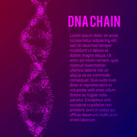 The structure of the DNA chain molecule and neurons. Science Visualization Concept. Vector Illustration.