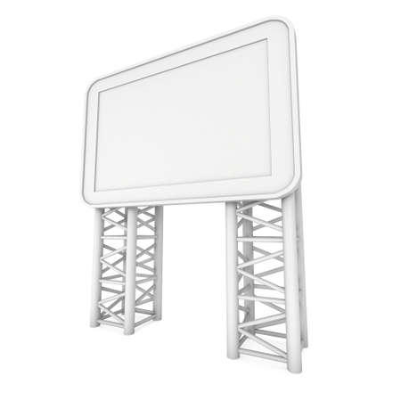 lcd display: LCD Screen Stand. Blank Trade Show Booth with truss girder element. 3d render of lcd screen isolated on white background. High Resolution. Ad template for your expo design.