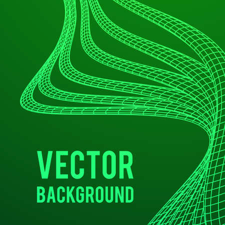 Low poly vein or wire wireframe mesh background. Science and tech vector illustration.