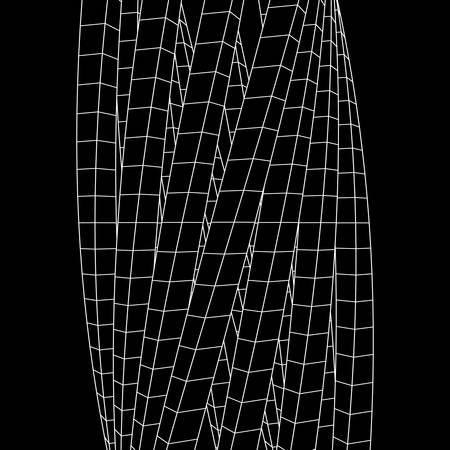 Low poly wireframe mesh.
