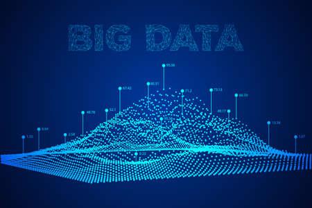大きなデータの可視化のベクトルの背景。