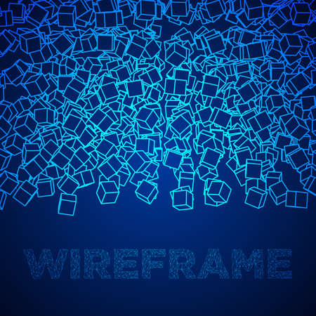 Wire frame cubes banner.