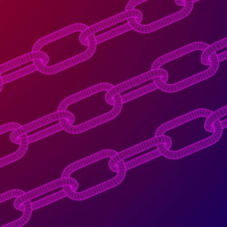 Wireframe BlockChain links.