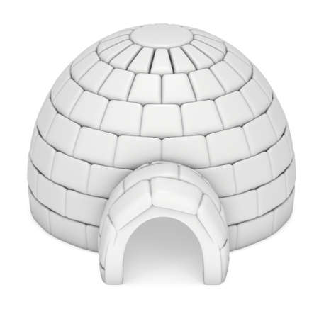 Igloo icehouse 3D Stock Photo - 87766017