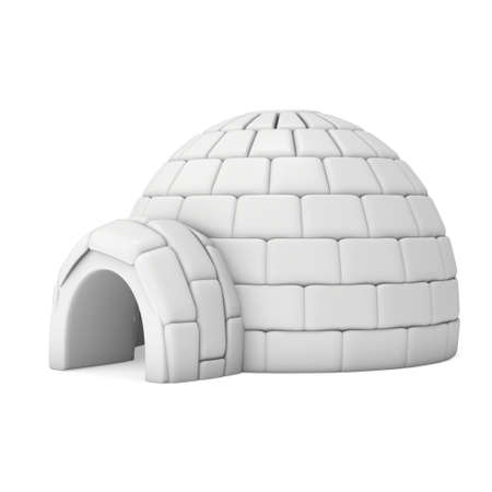 Igloo icehouse 3D Stock Photo - 88113083