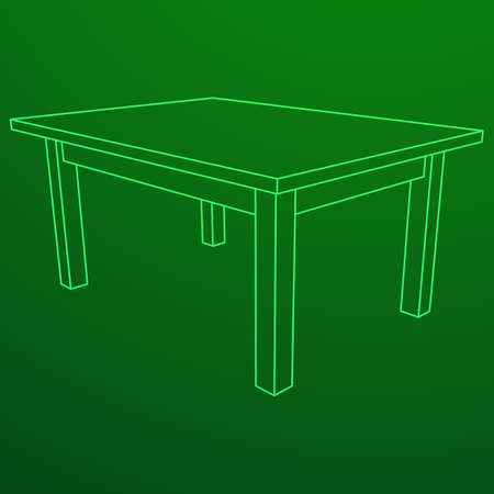 Table furniture wireframe