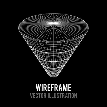 Wireframe Funnel Sales Diagram Çizim