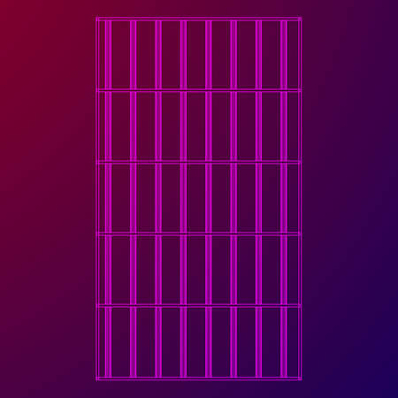 grille: Wireframe prison bars